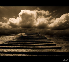 Do you believe in destiny ? (saternal) Tags: sky sepia steps fate destiny aplusphoto saternal