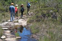 Caminhada (carlosoliveirareis) Tags: park brazil people heritage southamerica brasil trekking walking rocks adventure cristal gois whbrasil