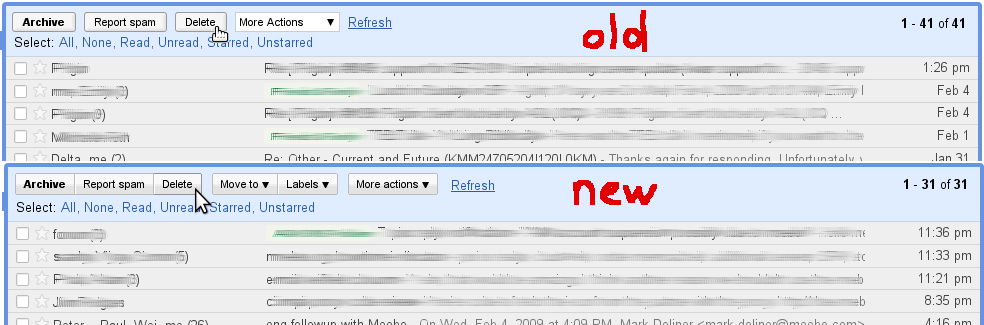 Changes in Gmail