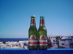 Lanzarote 2008 (JuliusCsar) Tags: two cold beer del puerto cool spain meer bottles balkon cerveza canarias espana tropical bier carmen islas zwei spanien seaview flaschen khl kaltgestellt