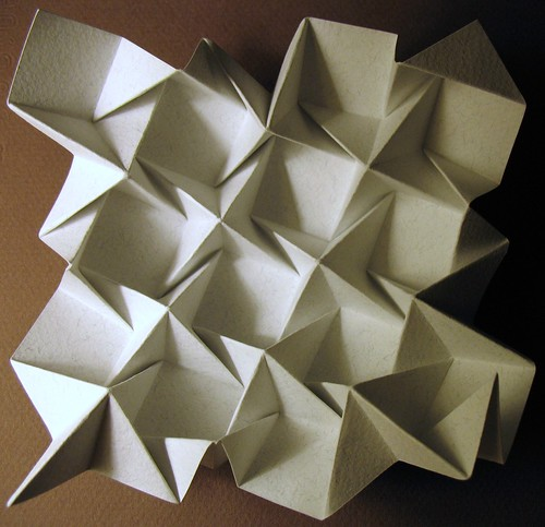 Origami tessellations. (a and b) Triangular Ron Resch and square ... | 483x500