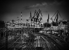Shipyard Railway (Marcin Cielewicz) Tags: bridge platform railway most shipyard tory peron gdask kolej wiadukt stocznia c1n3kk