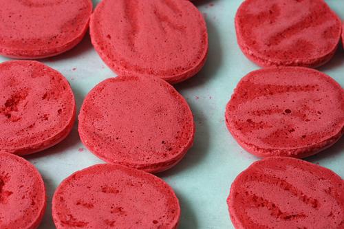 Pierre Herme's Ketchup Macarons (Ketchup Cookies) - David Lebovitz