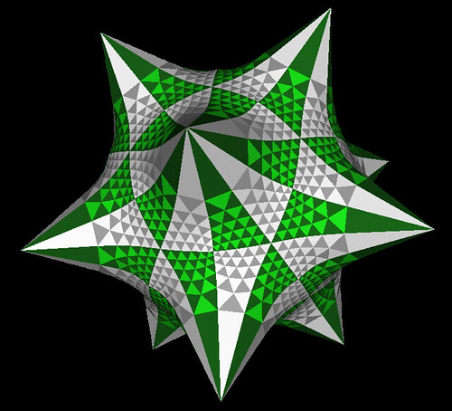 Hyperbolc dodecahedron with constant negative Gaussian curvature