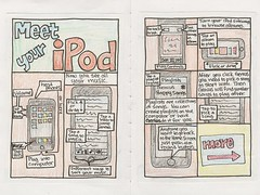 iPod Touch Comic (pages 1 and 2) (tessamac) Tags: comic ipod howto momsbirthday muisc usermanual ipodtouch tessasauruscom