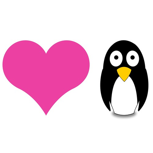 in love penguins