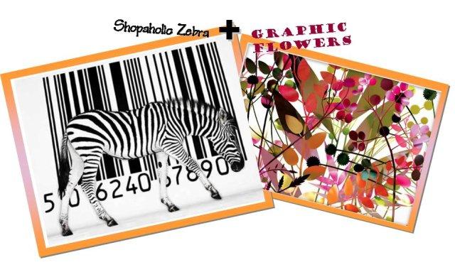 zebra+flower
