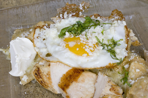 Chilaquiles with Chicken and Egg