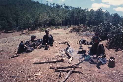 Nomad campfire near Muli