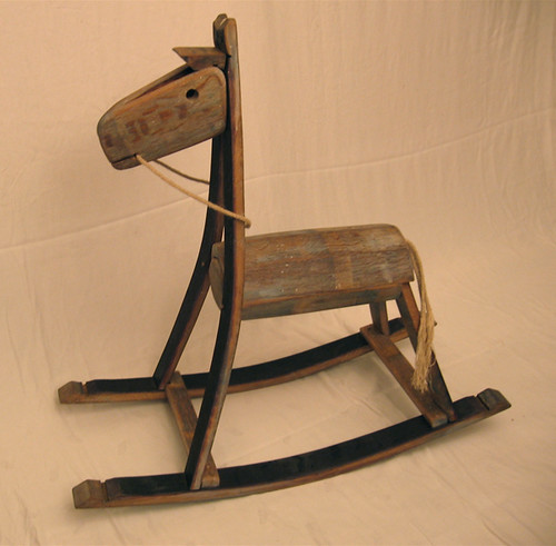 The Green rocking horse