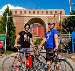 Micah & Daniel (reallyboring) Tags: chicago bike bicycle illinois unitedstates group il eastside pierogifest statelinegeneratingstation