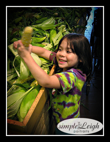 Anna with her corn.
