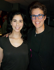 Rachel and Sarah (The Rachel Maddow Show) Tags: msnbc sarahsilverman rachelmaddow therachelmaddowshow