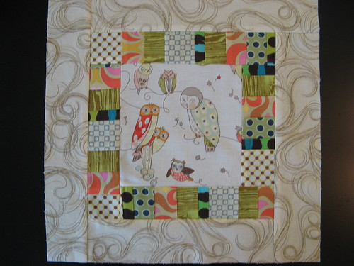 Owl and stripe block