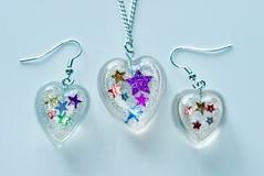 Confetti resin pendant/necklace (shpangle jewellery) Tags: stars necklace multicoloured confetti earrings resin pendant