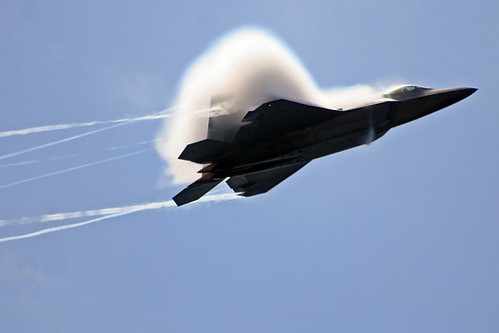 Fighter airplane picture - An F-22 Raptor