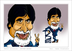 Amitabh bachan (Abdul Salim Kochi - Watercolor Painter-Illustrator) Tags: indian bollywood hindi bigb filmstar amitabhbachan