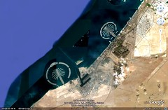 Dubai's Palm Islands (via Google Earth)