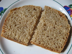 Wheat bread sliced