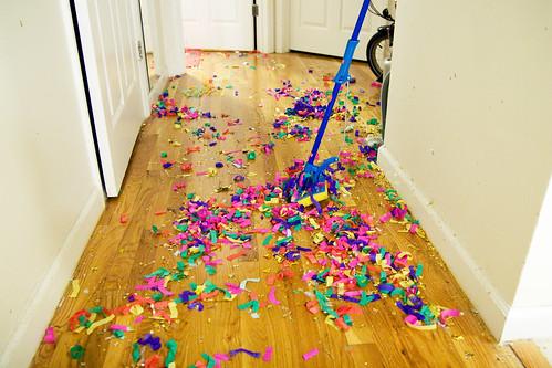 confetti everywheere