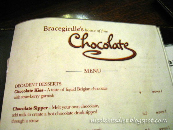 bracegirdle menu