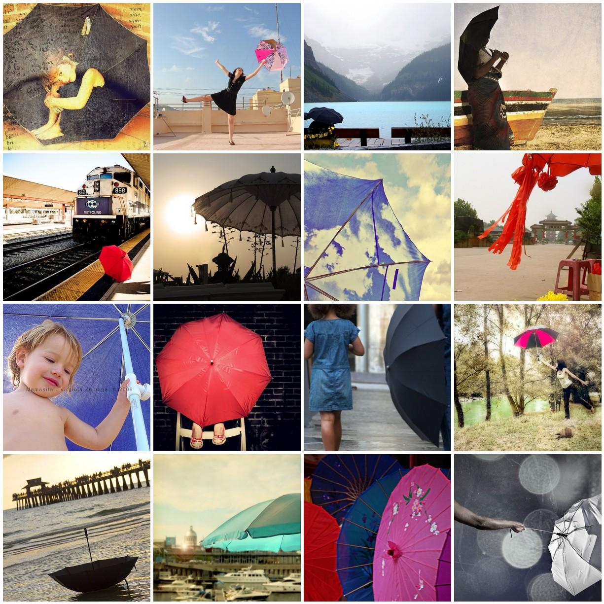 La vuelta al mundo: Sombrillas-paraguas (Agosto)