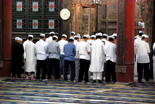 praying at the great mosque, xian