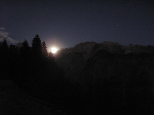 Full moonrise over the Great Western Divide