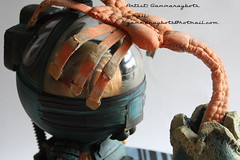 aliencloseup (gammaraybots / tom torrey) Tags: urban sculpture tom movie toy robot kid space alien egg contest vinyl pop ripley aliens scifi custom lowbrow dunny torrey facehugger munny gammaraybots symbiotes spankystokes