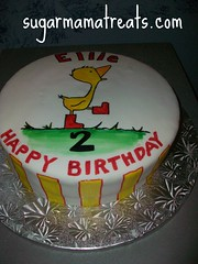 Gossie Birthday Cake (Sugar Mama NYC) Tags: nyc red rain yellow cake duck boots michelle mama sugar sculpted fondant tiered rainboots gossie duquesnay sugarmamanyccom