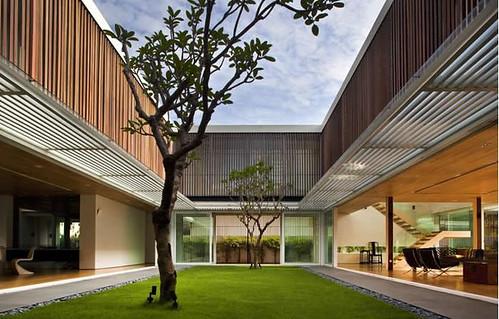 rumah kebun,Modern House Design,rumah modern tema alami