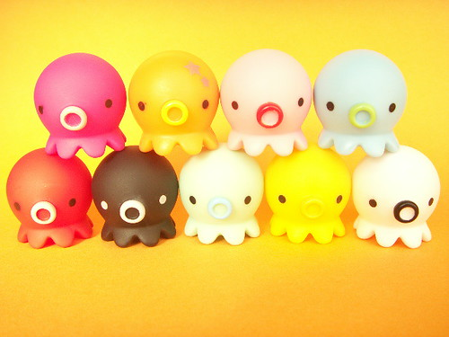 Kitschy Octopus Toy Takochu Plastic Mini Dolls Collection Japan by Kawaii Japan