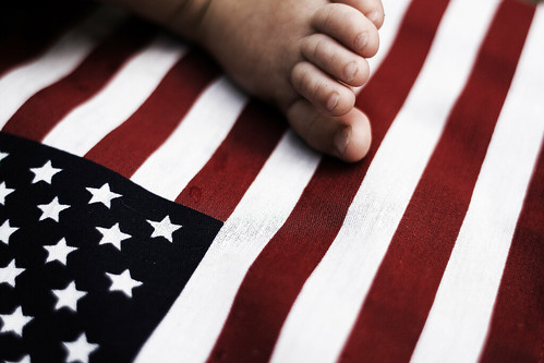Flag with Dirty Baby 