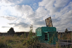 Sundown Over Nuclear Bunker (tj.blackwell) Tags: uk england station concrete roc post britain secret military yorkshire leeds entrance nuclear bunker civil hatch shelter fortification bomb monitoring atomic stronghold dugout defense command defence coldwar unit bunkers royalobservercorps