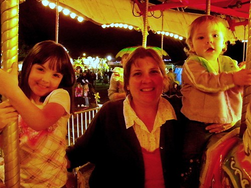 My girls and me on the merry go round