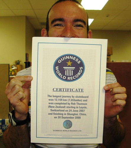 Done and dusted - Guinness World Record