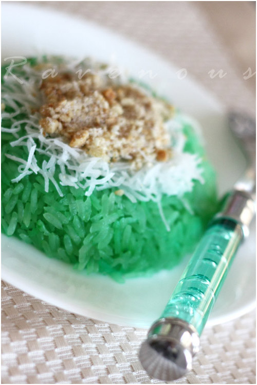 xoi la dua, sticky rice