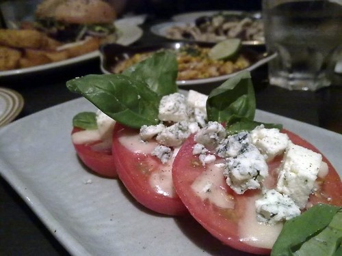 Thick Sliced Momotaro Tomato with Blue Cheese Vinaigrette