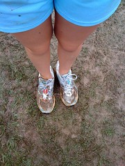 Shoes before the race...
