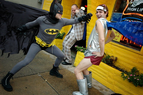 Batman & Super Gay Duke it Out