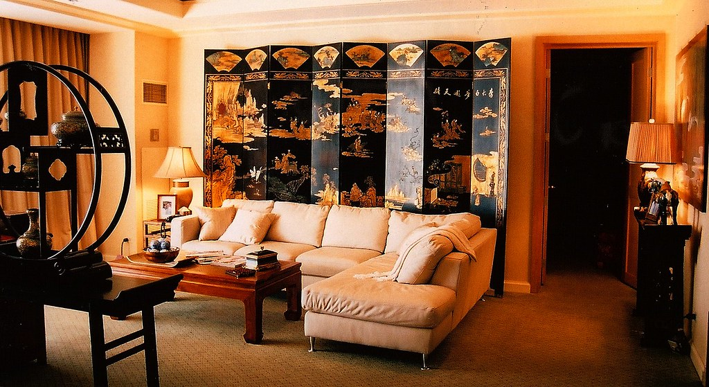 Asian Chinese Korean Living Room Interior Design Set Decorator Rick Romer TV Hawaii LOST