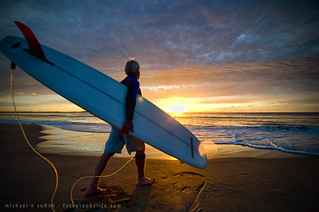 Macca's Early morning surf