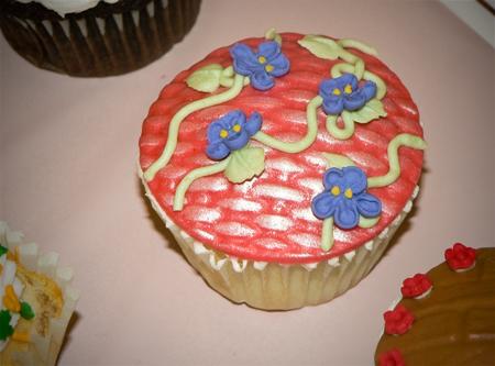 cupcake fondant impression mats flowers vines