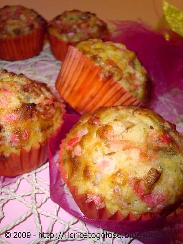Muffins con chips di banane e zucchero rosa (1)