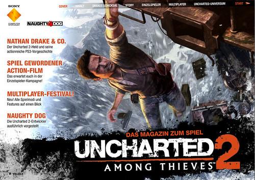 Interaktives Uncharted 2 Among Thieves Magazin