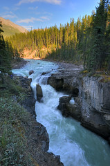 Sunwapta Falls HDR (mschroeter140) Tags: canada mountains reflection tree water river jasper falls banff rockymountains hdr sunwapta animalslake