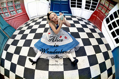 Alice in Wonderland (Alexandria LaNier) Tags: classic glass photoshop vintage costume bottle nikon floor dream fantasy storybook checkered aliceinwonderland alexandrialanier