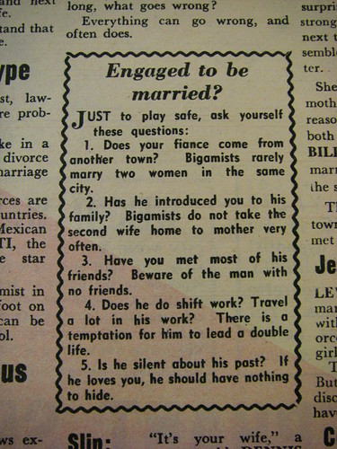 Bigamy, ask yourself these questions