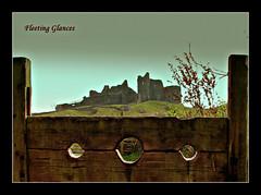 412.  The stocks at Carreg Cennen castle. (fleetingglances) Tags: castle wales stocks 1001nights carreg cennen pillory