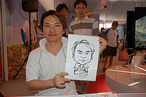 caricature live sketching for LG Infinia Roadshow - day 1 - 6